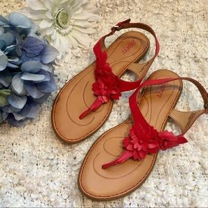 Born Red Floral Sandals
